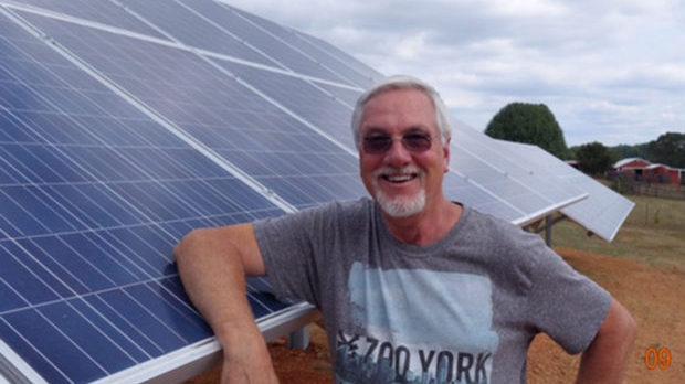 Steve Thomas and solar panels