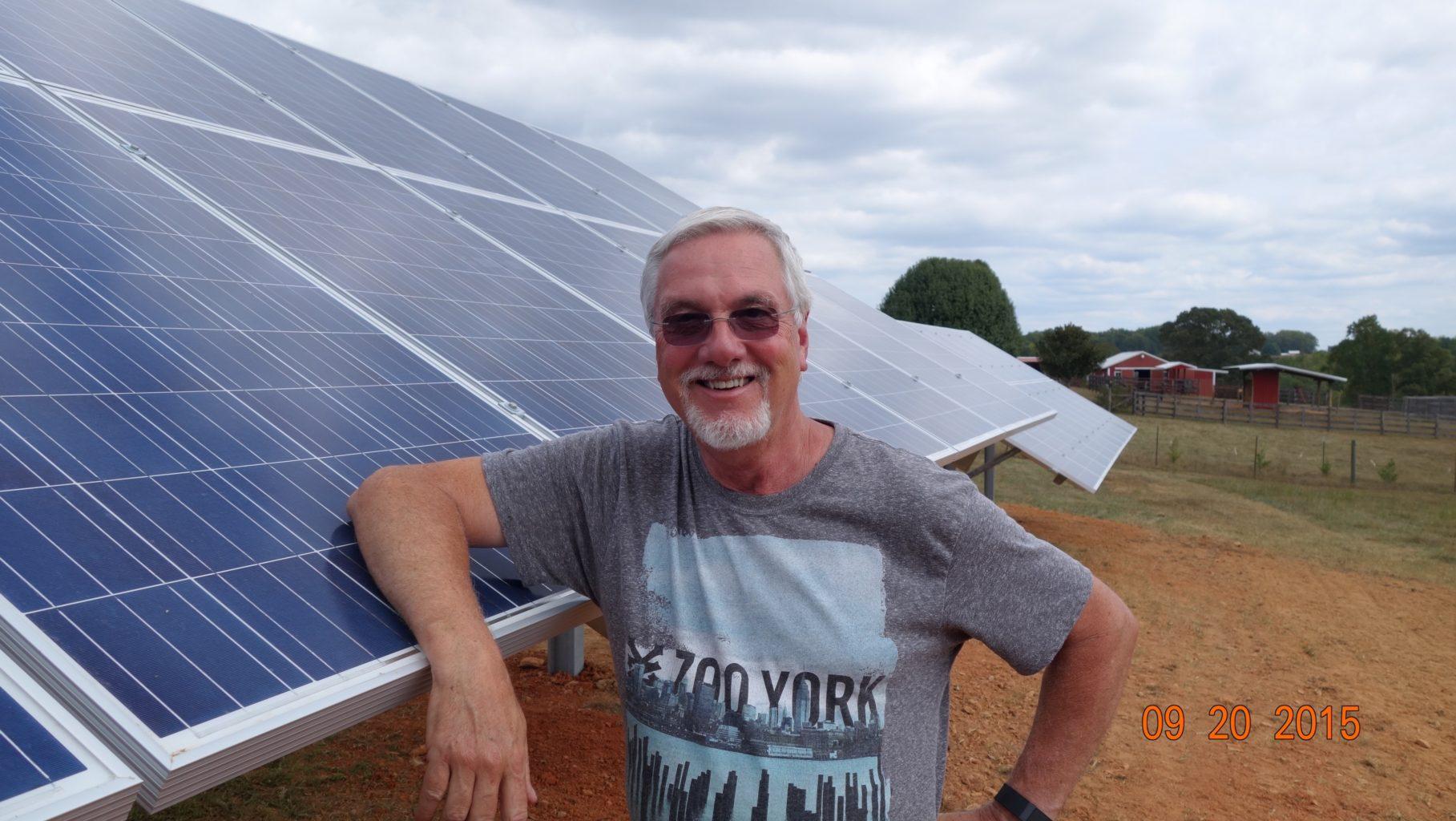 Steve Thomas with his solar panels