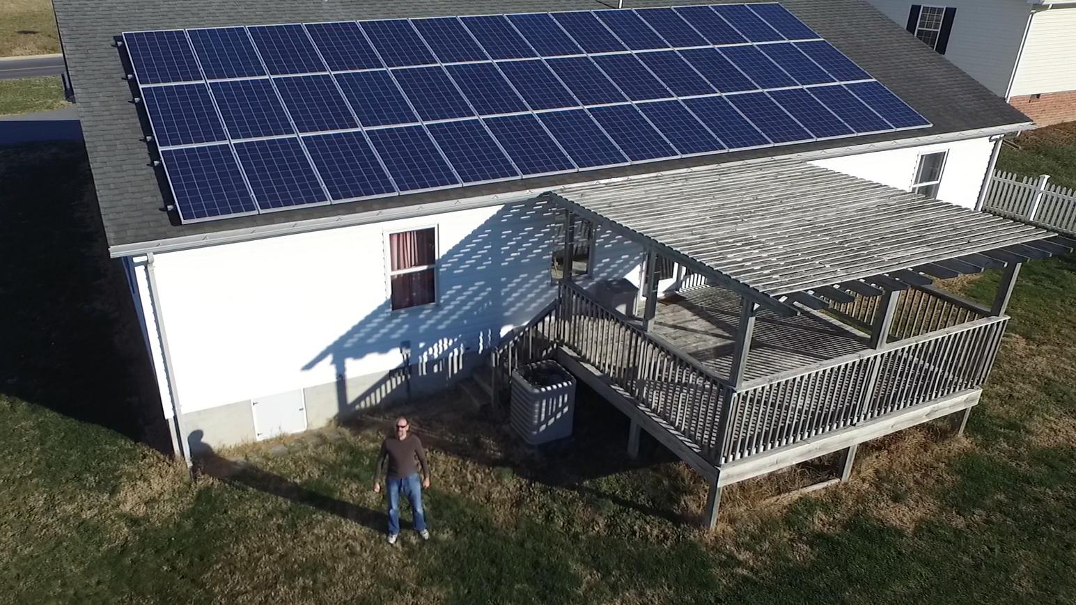 Bridgewater solar homeowner Mark Rathke