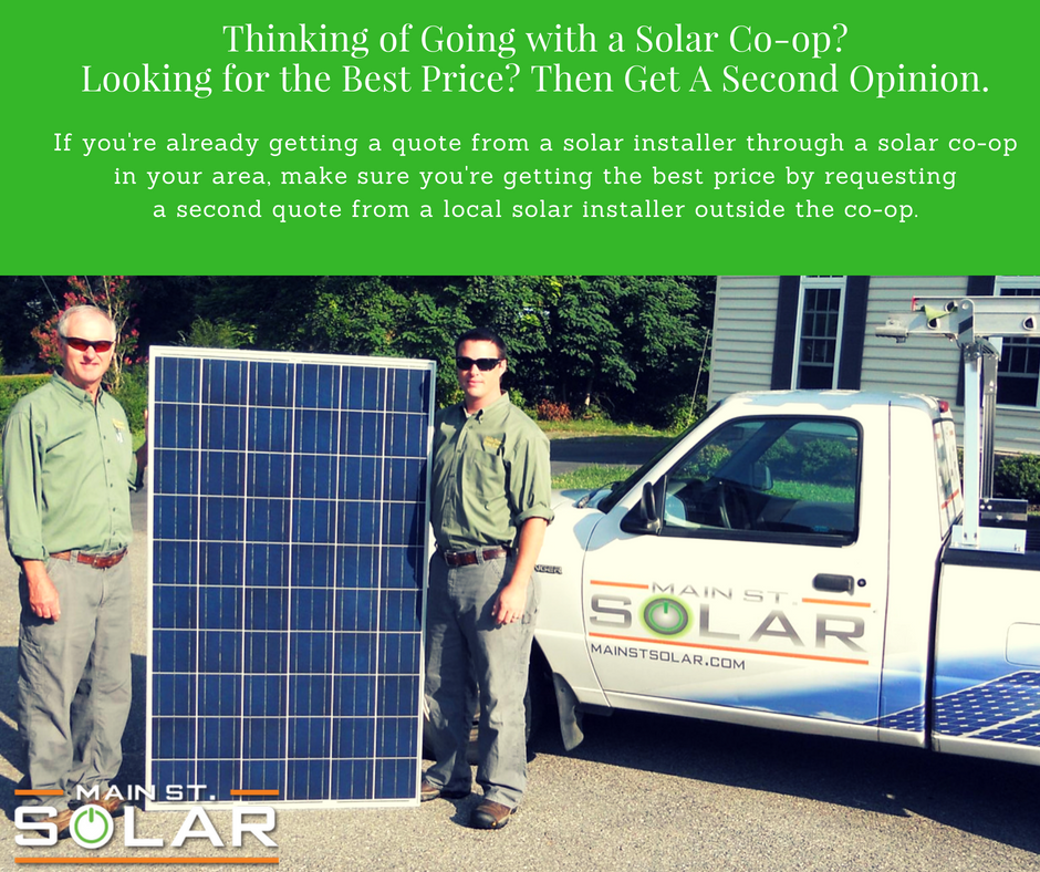 Get a second opinion on solar co-ops
